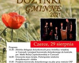 Zdjęcia główne wydarzenia: Dożynki Gminne w Czercach, 29 sierpnia 2021 r.