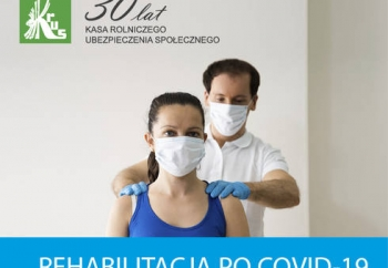 Zdjęcie główne dla: 'Komunikat KRUS - bezpłatna rehabilitacja dla rolników po przebytej chorobie Covid-19'