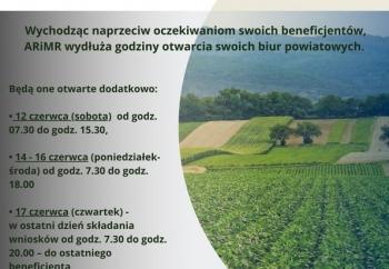 Zdjęcie główne dla: '17 czerwca mija termin składania wniosków o płatności bezpośrednie i obszarowe z PROW w kampanii 2021'
