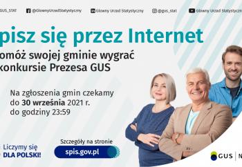 Zdjęcie główne dla: 'Trwa konkurs Prezesa GUS na najbardziej cyfrową gminę Narodowego Spisu Powszechnego Ludności i Mieszkań 2021'