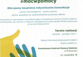 Zdjęcie główne dla: '#mocwpomocy - projekt PCPR w Przeworsku'