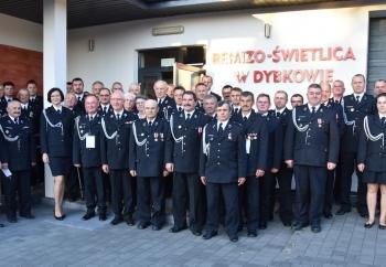 Zdjęcie główne dla: 'XII Zjazd Oddziału Miejsko-Gminnego Związku Ochotniczych Straży Pożarnych RP w Sieniawie'