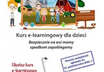 """Zdjęcie główne dla: 'Weź udział w kursie e-learningowym pt.""""Bezpiecznie na wsi mamy – upadkom zapobiegamy"""" i wygrywaj nagrody'"""