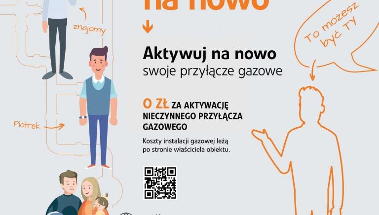 """Zdjęcie główne newsa: """"Aktywuj na nowo swoje przyłącze gazowe"""" - kampania informacyjna Polskiej Spółki Gazownictwa"""