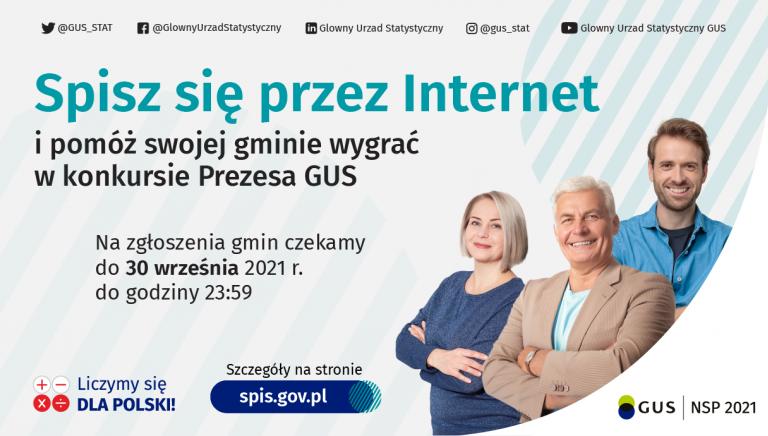 Zdjęcie główne newsa: Trwa konkurs Prezesa GUS na najbardziej cyfrową gminę Narodowego Spisu Powszechnego Ludności i Mieszkań 2021