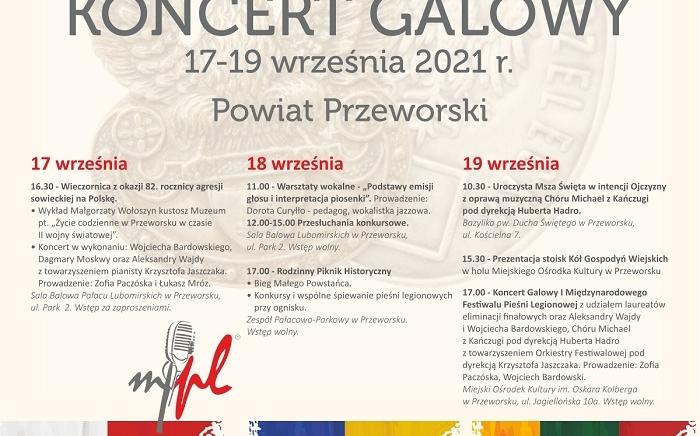 Zdjęcie główne newsa: I Międzynarodowy Festiwal Pieśni Legionowej - finał w Przeworsku