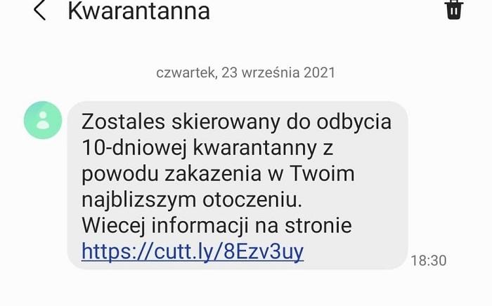 Zdjęcie główne newsa: Uwaga na fałszywe SMS-y o kwarantannie - ostrzeżenie Głównego Inspektora Sanitarnego