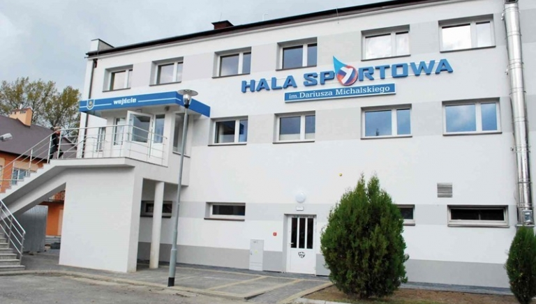 """Zdjęcie główne dokumentu powiązanego: Projekt """"Modernizacja energetyczna budynku hali sportowej w Sieniawie"""""""