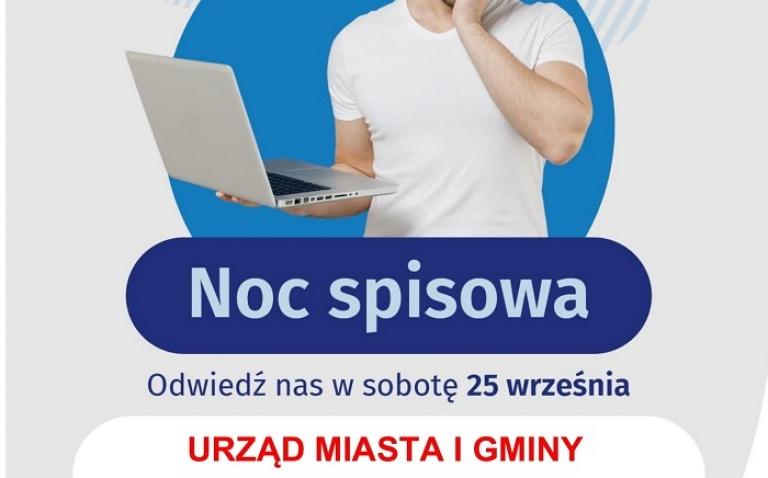 Zdjęcie główne dokumentu powiązanego: Noc Spisowa w Sieniawie. Przyjdź 25 września do Urzędu Miasta i Gminy w Sieniawie